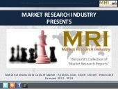 Global Automatic Data Capture Market - Analysis, Size, Share, Growth, Trends and Forecast 2012 - 2016