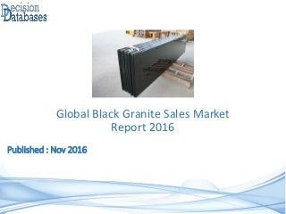 global black granite sales market report 2016