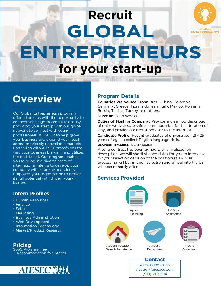 global entrepreneur one pager, Powerpoint templates