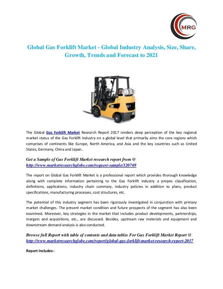 Global gas forklift market