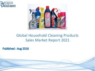 Global Household Cleaning Products Sales Market Report 2021