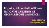 TEST OF THE CREDIBILITY OF POPULAR GLOBAL INDICES