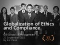 Globalization of Ethics and Compliance by @EricPesik