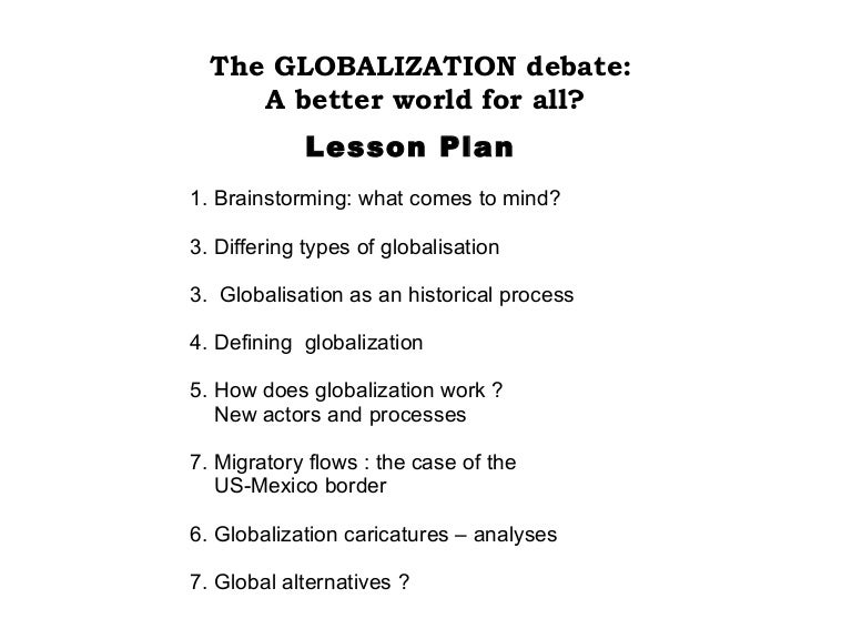 the hot debate of globalization in todays world Globalization and a country's status can alter the diversification benefits of these markets  find out how us news determined the world's top universities overall and by region and country.