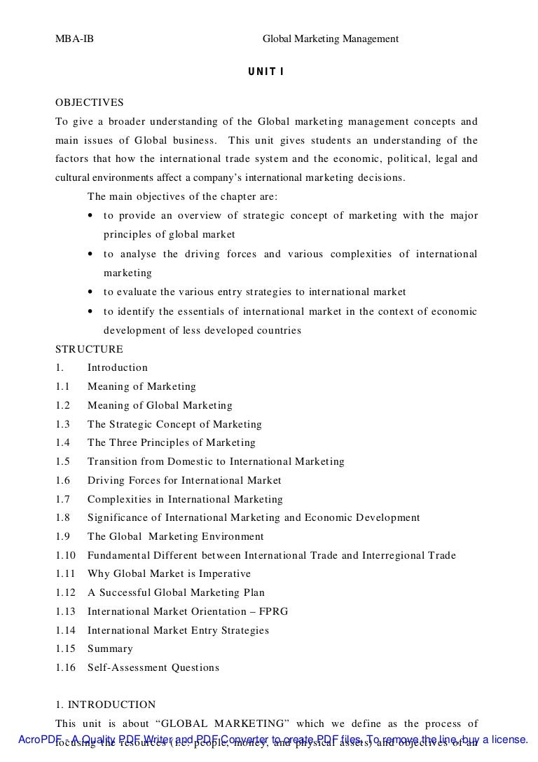 research paper on international marketing