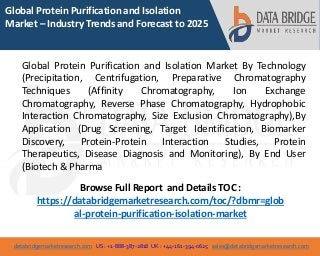 Global Protein Purification and Isolation Market - Industry Trends and Forecast to 2025