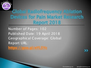 Radiofrequency Ablation Devices for Pain Market Study on Elite Structure, Key Applications, Properties, Analysis and Demand