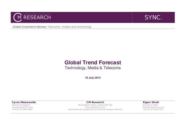 2015 Global Trend Forecast (Technology, Media & Telecoms)