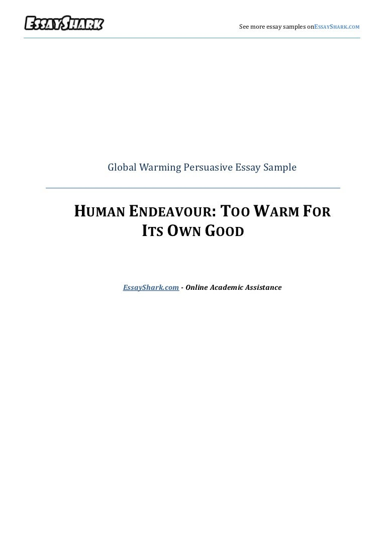 Persuasive essay on global warming