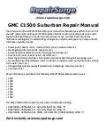 1999 gmc suburban service manual
