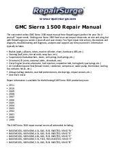 GMC Sierra 1500 Repair Manual 1999-2011SlideShare