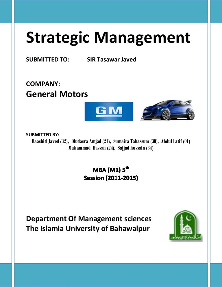 General motors case study analysis