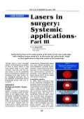 Lasers in Surgery Systemic Applications Part-III - Sanjoy Sanyal