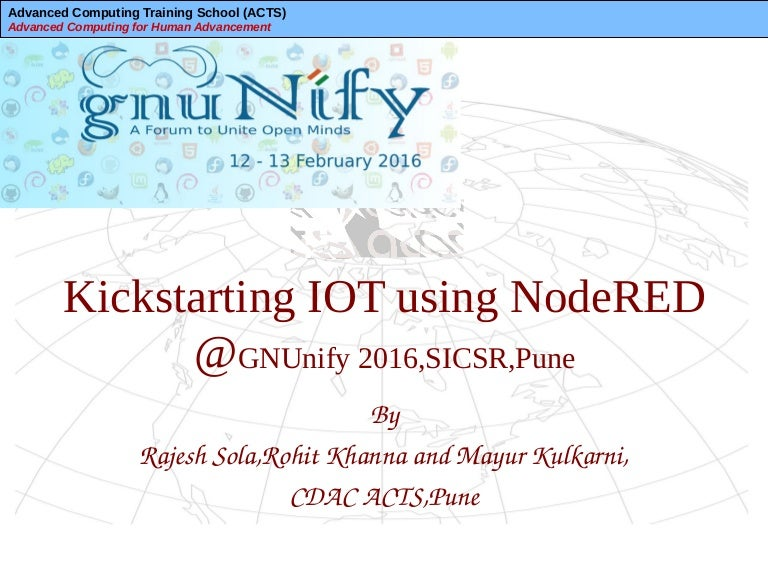 Kickstarting IOT using NodeRED