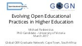 Global Open Education Graduate Network Research Presentation - Cape Town, South Africa 2017
