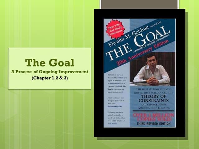 Goal - Eliyahu Moshe Goldratt