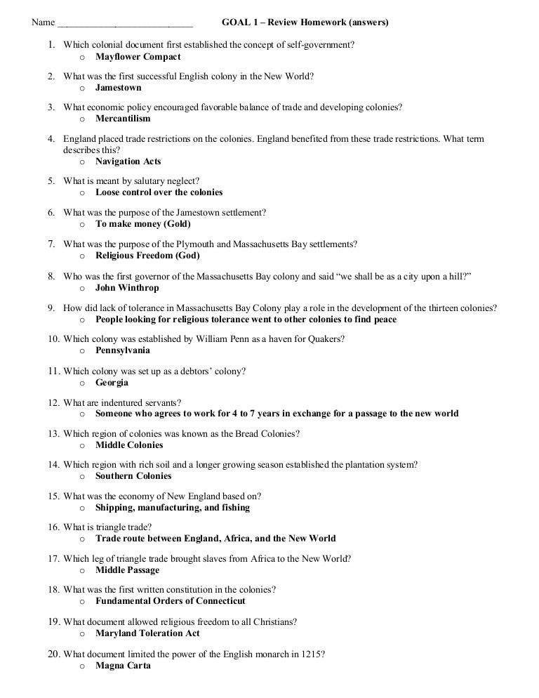 The english establish 13 colonies worksheet answers