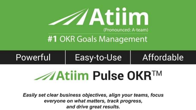 OKR Goals - Goal Quotes Part 2 - Atiim