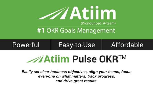 OKR Goals - Goal Quotes Part 3 - Atiim