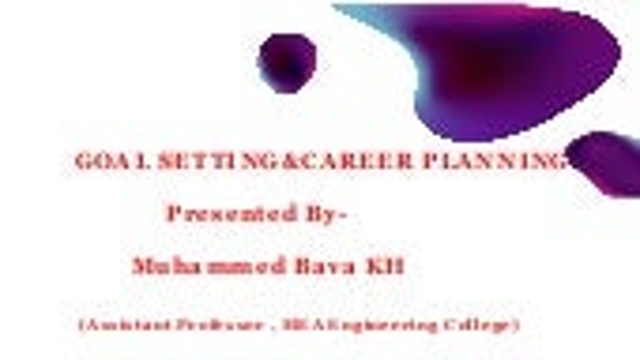 Goal setting&career planning