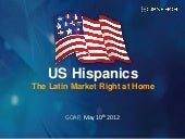 US Hispanics. The Latin Market Right at Home.