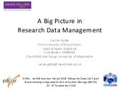 A Big Picture in Research Data Management