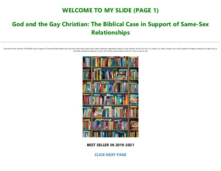 Free [FREE] [DOWNLOAD] God and the Gay Christian: The Biblical Case in Support of Same-Sex Relationships *Full Online