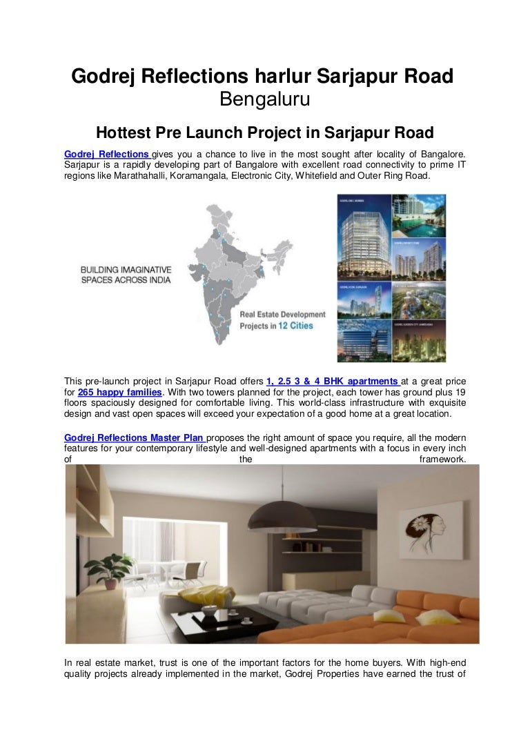 Godrej Reflections Sarjapur Road Bangalore New Project In Haralur