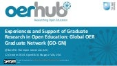 Experiences and Support of Graduate Research in Open Education: Global OER Graduate Network (GO-GN)