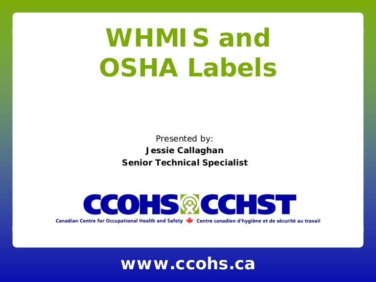 Whmis And Osha Labels