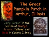 Going Green at the Great Pumpkin Patch