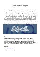 Golang dataanalytics