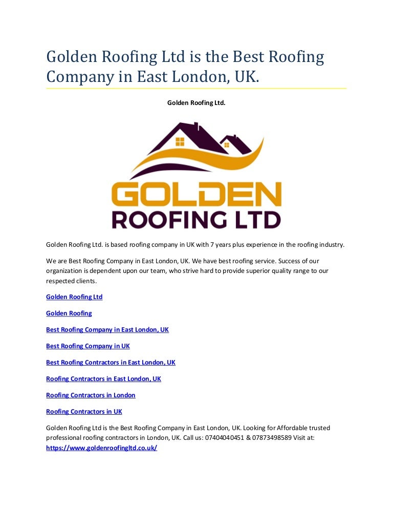 Golden Roofing Ltd