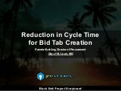 Project Storyboard: Reducing Cycle Time for Bid Tab Creationby 33%