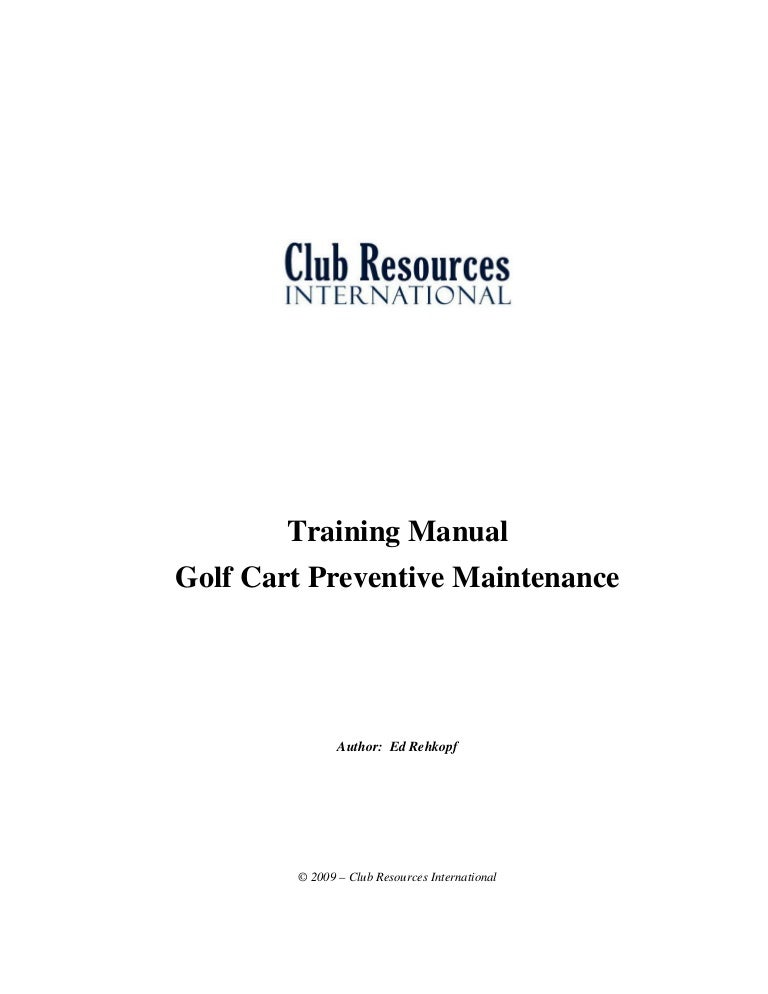 Golf cart preventive maintenance Golf Cart Sign In And Out Procedures on