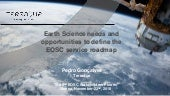 Earth Science Needs and Opportunities to Define the EOSC Service Roadmap