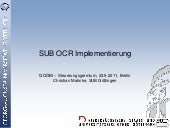 SUB OCR Implementierung