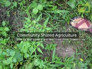 Why a Good Food Community?