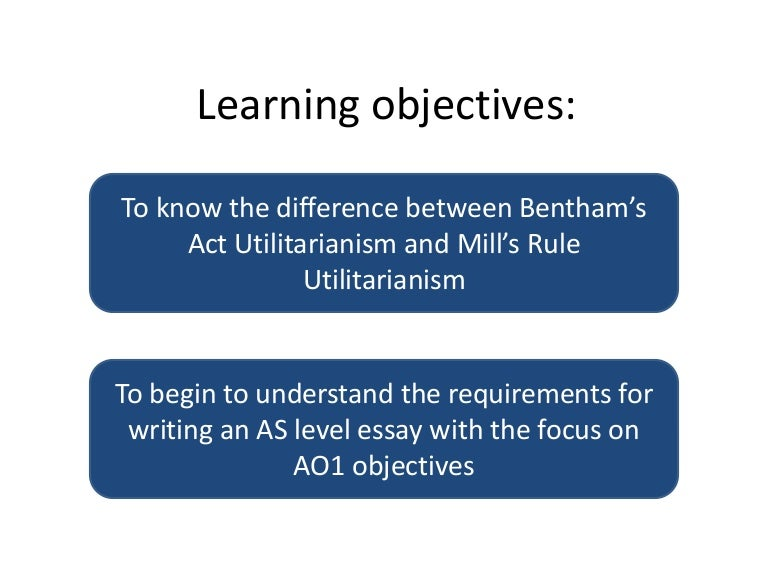 benthams act utilitarianism The principle of utility or the principle of utilitarianism : i ought do that act which will bring about the greatest happiness (pleasure) jeremy bentham:.