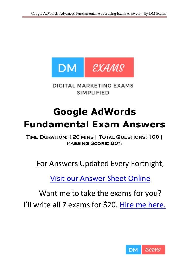 Google adwords fundamentals exam answers 1betcityfo Images