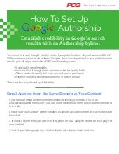 How to Set Up Google+ Authorship