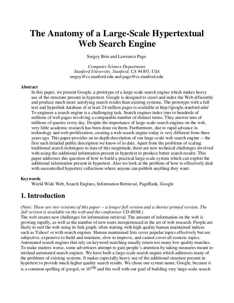 Research papers on computer science