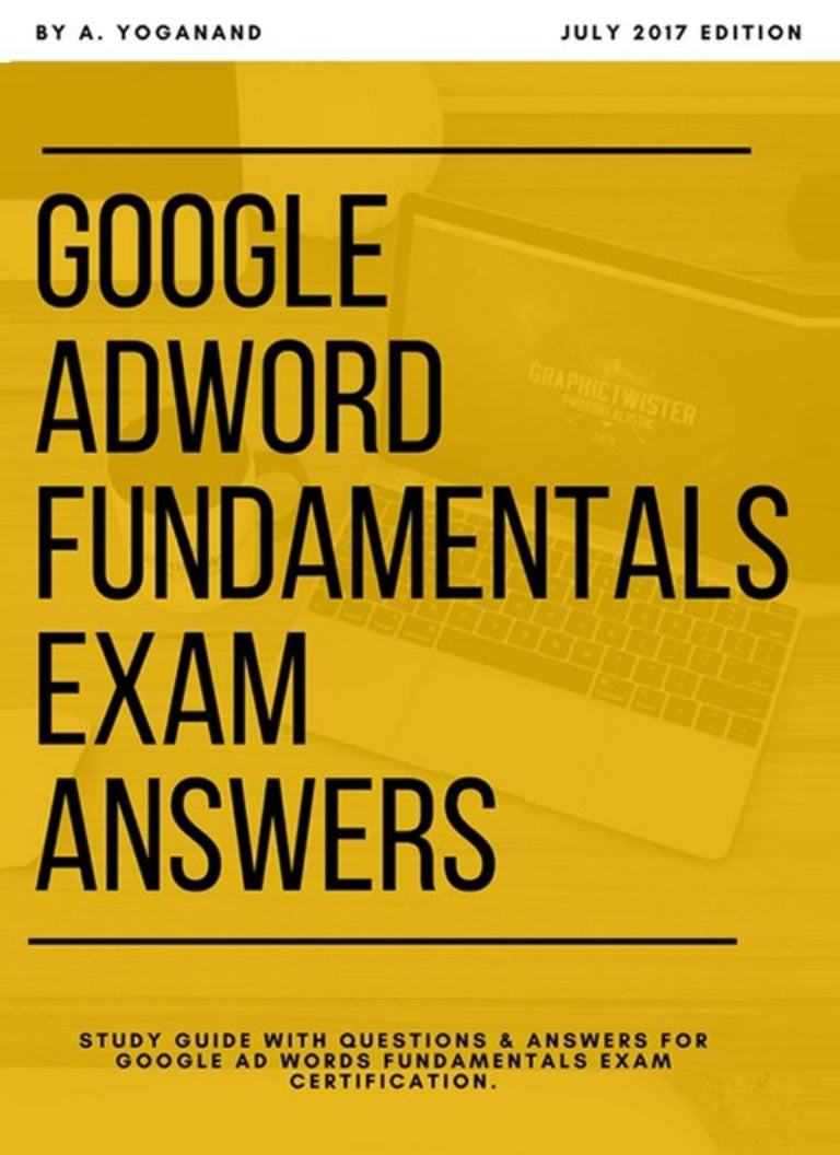 Adwords Certification Exam Answers