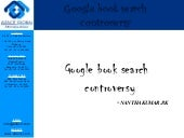 Google book search controversy