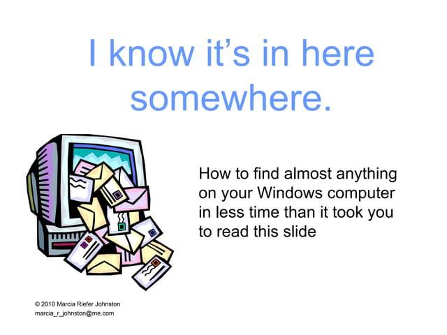 Google Desktop searching