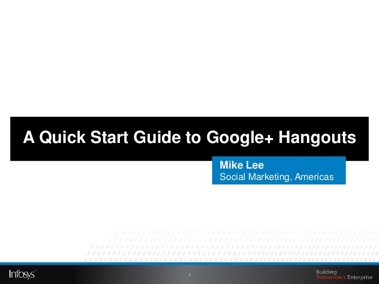 Google Hangouts A Quick Start Guide