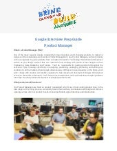 Google Interview Prep Guide Product Manager