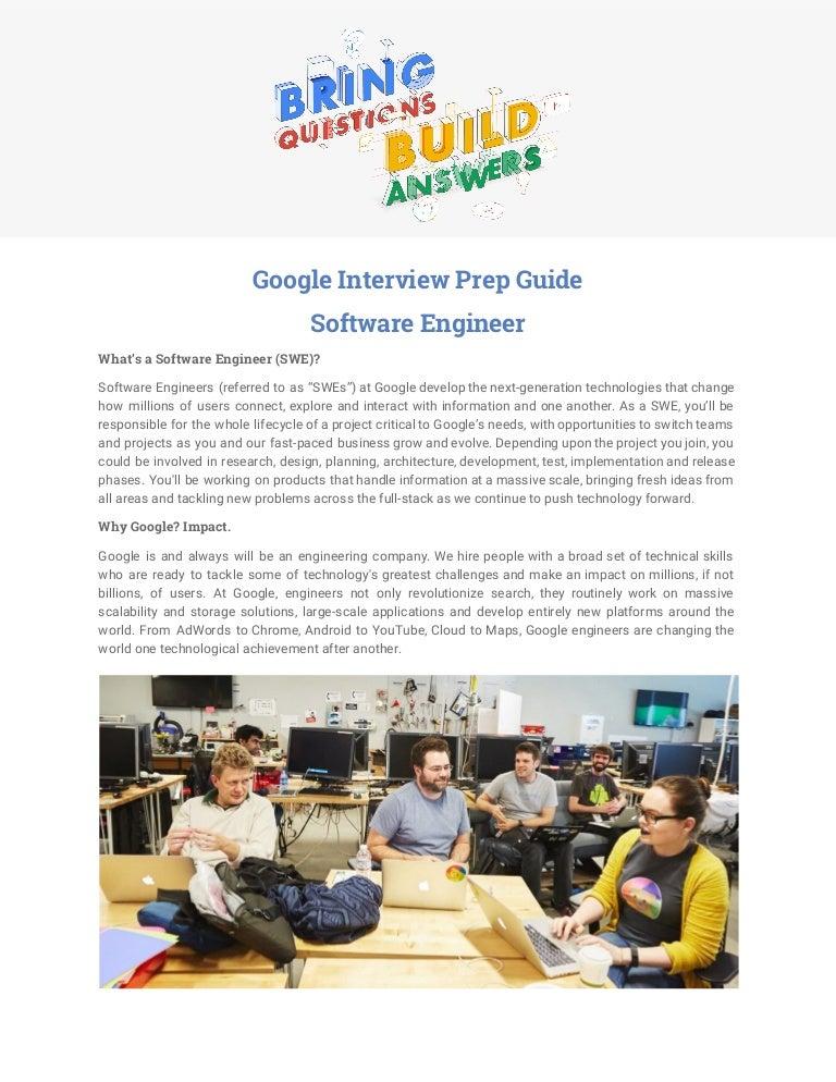 Google Interview Prep Guide Software Engineer