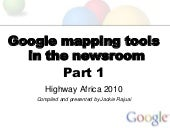 Google mapping in the newsroom part 1