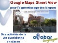 Google Maps Street View pour l'apprentissage des langues